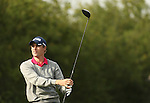 Welsh golfer Rhys Davies drives at the 14th hole during the first round of the ISPS Handa Wales Open 2013 at the Celtic Manor Resort<br /> <br /> 29.08.13<br /> <br /> &copy;Steve Pope-Sportingwales