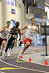 12 MAR 2011: Dan Benton of North Central College competes in the 400 meter dash during the Division III Men's and Women's Indoor Track and Field Championships held at the Capital Center Fieldhouse on the Capital University campus in Columbus, OH.  Jay LaPrete/NCAA Photos