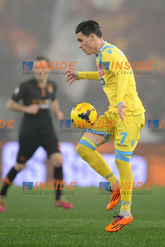 Jose Maria Callejon Napoli.<br /> Roma 05-02-2014 Stadio Olimpico. Football Calcio 2013/2014 Tim Cup. AS Roma - Napoli. Foto Antonietta Baldassarre / Insidefoto