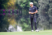 Dustin Johnson (USA) watches J.B. Holmes (USA) hit his second shot from the drop zone on 17 during round 3 of the World Golf Championships, Mexico, Club De Golf Chapultepec, Mexico City, Mexico. 3/4/2017.<br /> Picture: Golffile | Ken Murray<br /> <br /> <br /> All photo usage must carry mandatory copyright credit (&copy; Golffile | Ken Murray)