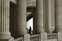 The rotunda of the Cannon House office building on a quiet Monday afternoon, April 25, 2005.