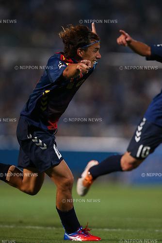 Yosuke Nozaki (Yokohama FC), <br /> JULY 26, 2014 - Football /Soccer : <br /> 2014 J.LEAGUE Division 2 <br /> between Yokohama FC 4-0 Jubilo Iwata <br /> at NHK Spring Mitsuzawa Football Stadium, Kanagawa, Japan. <br /> (Photo by AFLO SPORT) [1205]
