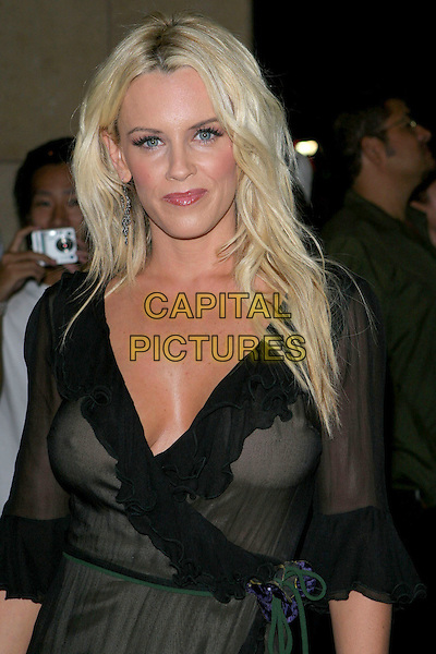 JENNY MCCARTHY.2005 World Music Awards, held at the Kodak Theatre, Hollywood, CA..31st August 2005.portrait headshot black see thru through dress cleavage v-neck.www.capitalpictures.com.sales@capitalpictures.com.© Capital Pictures.