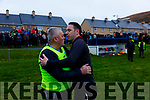Managers St Marys Kieran McCarthy & Piarsaigh na Dromoda's Declan O'Sullivan at the South Kerry Final on Saturday.