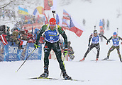 9th December 2017, Biathlon Centre, Hochfilzen, Austria; IBU Biathlon World Cup; Arnd Peiffer (GER) during the mens 12.5KM pursuit