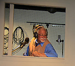 """Steven Austin Young stars in Looped - about Tallulah Bankhead - original premiere - at Stageworks/Hudson Theater Outside The Box on July 14, 2013 running until July 28 - also stars Michael Rhodes and Steve Austin Young. """"All he needed was one line . . . All Tallulah needed was eight hours . . .""""  (Photo by Sue Coflin/Max Photos)"""