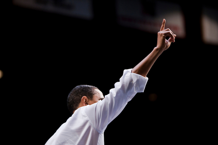 U.S. President Barack Obama speaks on health insurance reform at George Mason University's Patriot Center in Fairfax, Virginia...
