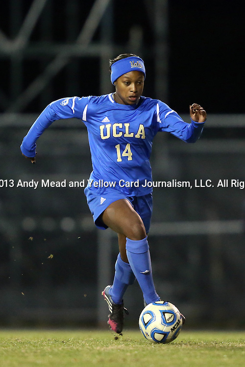 30 November 2013: UCLA's Taylor Smith. The University of North Carolina Tar Heels played the University of California Los Angeles Bruins at Fetzer Field in Chapel Hill, North Carolina in a 2013 NCAA Division I Women's Soccer Tournament Quarterfinal match. UCLA won the game 1-0 in two overtimes.