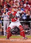 13 October 2016: Washington Nationals catcher Jose Lobaton in action during Game 5 of the NLDS against the Los Angeles Dodgers at Nationals Park in Washington, DC. The Dodgers edged out the Nationals 4-3, to take Game 5 of the Series, 3 games to 2, and move on to the National League Championship Series against the Chicago Cubs. Mandatory Credit: Ed Wolfstein Photo *** RAW (NEF) Image File Available ***