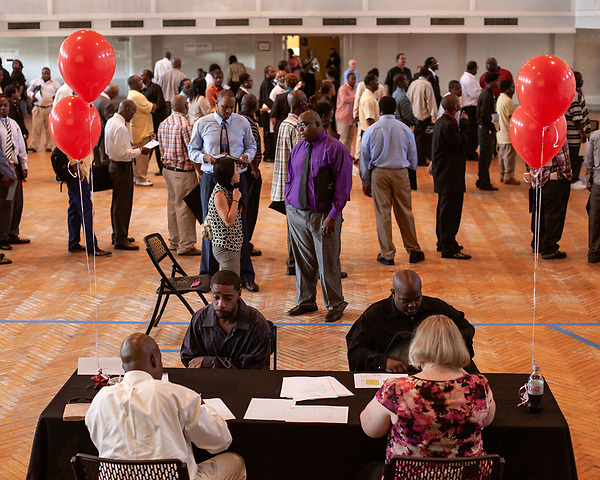 June 13, 2013. Durham, North Carolina<br />  JobLink and the city of Durham hosted the Re-Entry Navigation Conference & Job Fair for ex-offenders at the Durham Armory. Those who registered attended a conference on Monday June 10 and then attendees were invited to the job fair on June 13. Although hopes were high for the unemployed, only 5 of the 12 registered companies set up at the fair.
