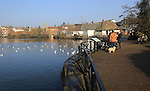 The Mere lake pond at Diss, Norfolk, England, UK