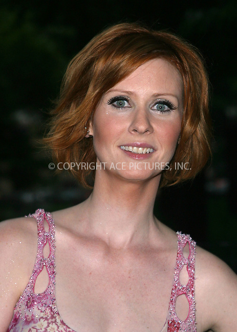 "Cynthia Nixon attending the premiere of the final season of HBO's ""Sex And The City."" New York, June 18, 2003. Please byline: NY Photo Press.   ..*PAY-PER-USE*      ....NY Photo Press:  ..phone (646) 267-6913;   ..e-mail: info@nyphotopress.com"