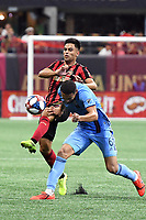 Atlanta, GA - August 11, 2019. Atlanta United FC defeated New York City FC, 2-1, in a critical Eastern conference match played at Mercedes-Benz Stadium.