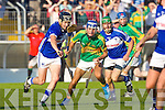 John Buckley Lixnaw In Action against St. Brendans Conor Flaherty at the  Garveys Supervalu Senior Hurling Championship Semi Final – Replay Lixnaw V St Brendans  at Austin Stack park on Saturday