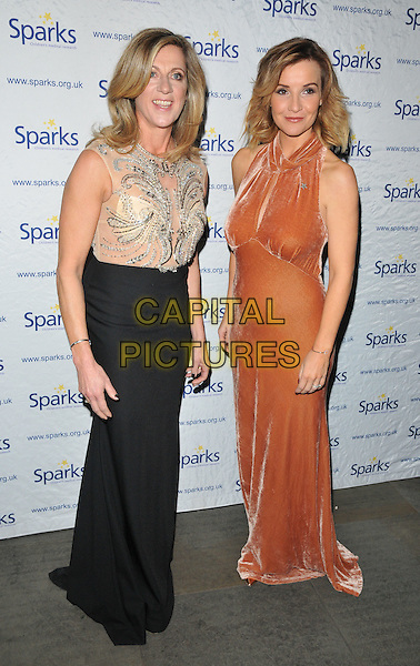 Sally Gunnell and Helen Skelton at the Sparks Winter Ball, The Roundhouse, Chalk Farm Road, London, England, UK, on Wednesday 30 November 2016. <br /> CAP/CAN<br /> &copy;CAN/Capital Pictures