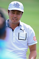 Hideto Tanihara (JAP) on the practice tee during the Wednesday practice day of the 117th U.S. Open, at Erin Hills, Erin, Wisconsin. 6/14/2017.<br /> Picture: Golffile | Ken Murray<br /> <br /> <br /> All photo usage must carry mandatory copyright credit (&copy; Golffile | Ken Murray)