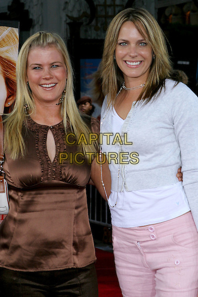 "ALISON SWEENEY & ARIANNE ZUKER.At the Los Angeles Premiere of ""Just Like Heaven"" held at Graumann's Chinese Theatre,.Los Angeles, 8th Septeber 2005.half length white top pink trousers brown satin top.Ref: ADM/JW .www.capitalpictures.com.sales@capitalpictures.com.© Capital Pictures."