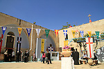 Israel, Lower Galilee, Easter Tuesday at the Greek Orthodox Metropolite in Nazareth