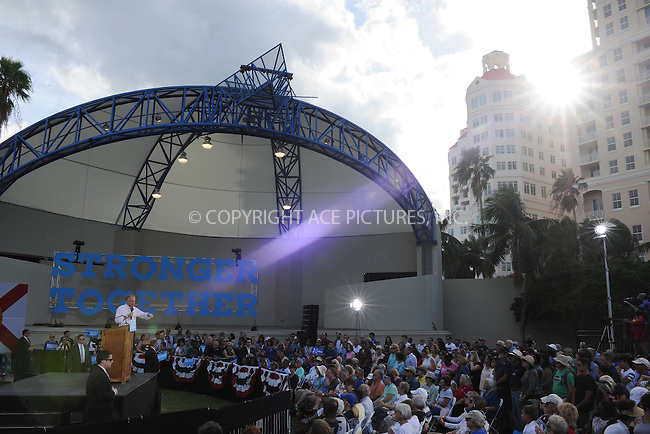 www.acepixs.com<br /> <br /> October 24 2016, West Palm Beach<br /> <br /> Hillary Clinton rally in the Meyer Amphitheater on October 24 2016 in West Palm Beach, FL.<br /> <br /> <br /> <br /> <br /> By Line: Solar/ACE Pictures<br /> <br /> ACE Pictures Inc<br /> Tel: 6467670430<br /> Email: info@acepixs.com<br /> www.acepixs.com