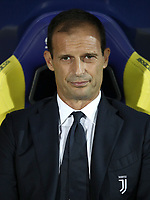 Calcio, Serie A: Frosinone-Juventus, Benito Stirpe stadium in Frosinone, September 23, 2018. <br /> Juventus' coach Massimiliano Allegri looks on prior to the Italian Serie A football match between Frosinone and Juventus at Frosinone stadium on September 23, 2018.<br /> UPDATE IMAGES PRESS/Isabella Bonotto