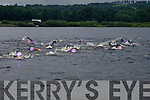 Swimmers in the water at the start of the swim in the Killarney Hardman Triathlon in O'Mahony's Point on Saturday..