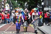 "29 June 2013, London, United Kingdom. Pride London 2013 parade starts with the motto ""love (and marriage)""."
