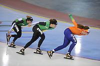 SCHAATSEN: SALT LAKE CITY: Utah Olympic Oval, 12-11-2013, Essent ISU World Cup, training, Linda de Vries, Ireen Wüst, Antoinette de Jong, ©foto Martin de Jong