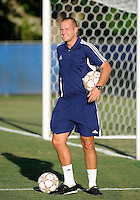 Florida International University men's soccer assistant coach Chris Rich during the game against Nova University on August 26, 2011 at Miami, Florida. FIU won the game 2-0. .