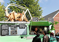 Amsterdam Westerpark. Foodfestival De Rollende keukens. Snacks made from insects. Microbar
