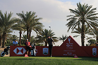 Eddie Pepperell (ENG) on the 9th tee during the Pro-Am of the Abu Dhabi HSBC Championship 2020 at the Abu Dhabi Golf Club, Abu Dhabi, United Arab Emirates. 15/01/2020<br /> Picture: Golffile | Thos Caffrey<br /> <br /> <br /> All photo usage must carry mandatory copyright credit (© Golffile | Thos Caffrey)
