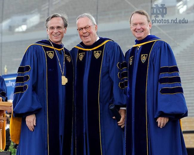 May 22, 2011; John W. Glynn receives an honorary doctor of laws degree at the 2011 Commencement ceremony...Photo by Joe Raymond/University of Notre Dame