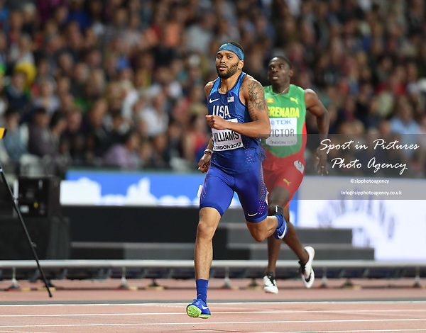 Devon WILLIAMS (USA) in the mens decathlon 400m. IAAF world athletics championships. London Olympic stadium. Queen Elizabeth Olympic park. Stratford. London. UK. 11/08/2017. ~ MANDATORY CREDIT Garry Bowden/SIPPA - NO UNAUTHORISED USE - +44 7837 394578