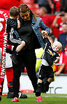 Coleen Rooney has her hands full with the youngest child Kit during the English Premier League match at the Old Trafford Stadium, Manchester. Picture date: May 21st 2017. Pic credit should read: Simon Bellis/Sportimage