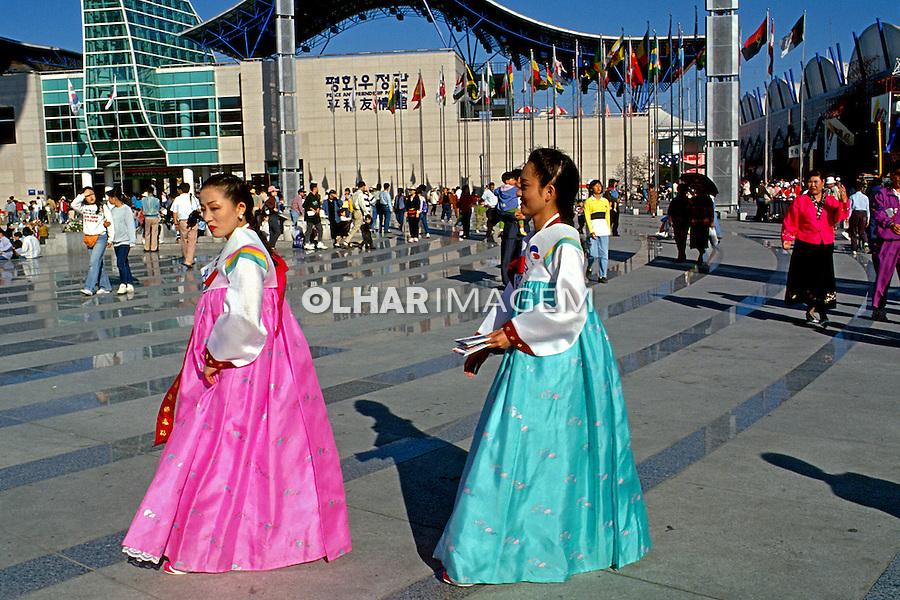 Jovens coreanas em Seul. Coréia do Sul. 1999. Foto de Ricardo Azoury.