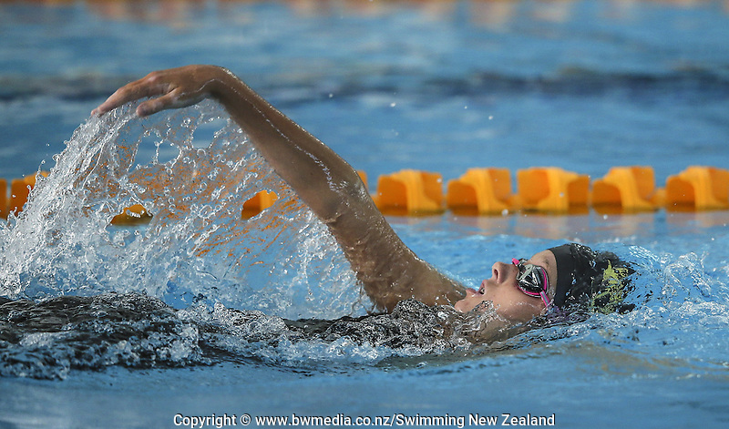 Action during the New Zealand Junior Swimming Championships, Owen G Glenn National Aquatic Centre, Auckland New Zealand. Friday 19 February 2016 Photo: Simon Watts/www.bwmedia.co.nz