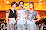 At  Fashion show in aid of MS in Ballyroe Hotel on Saturday were fashion Designer  Nuala McCarthy and models Baooy Xu, Kristen McKenzie Bass.