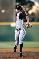 Michael Schlect of the Bakersfield Blaze during a California League baseball game on May 26, 2007 at The Epicenter in Rancho Cucamonga, California. (Larry Goren/Four Seam Images)