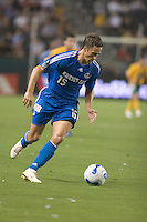 Kansas City forward Josh Wolff dribbles the ball upfield. The Los Angeles Galaxy defeated the Kansas City Wizards, 2-1, at the Home Depot Center in Carson, Calif. on September 2, 2006.. The Los Angeles Galaxy defeated the Kansas City Wizards, 2-1, at the Home Depot Center in Carson, Calif. on September 2, 2006.