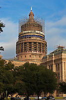 The historic Capitol building to receive needed repairs part of the 2.5 million dollar restoration will be the painting of the dome itself. Once the holes and rust are repaired, the repainting will leave the dome more red than it is currently. Atop the dome, the Goddess will remain in place, but will be inspected and cleaned.