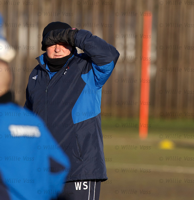 Walter Smith struggling to see in the low winter sun