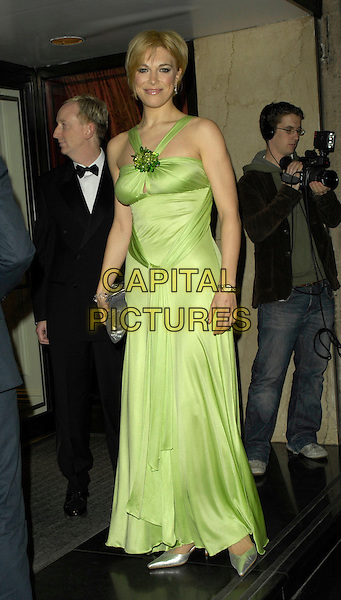 HANNAH WADDINGHAM.Arrivals - Laurence Olivier Awards at the Grosvenor Hotel, Park Lane, London, UK..February 18th, 2007.full length green dress.CAP/CAN.©Can Nguyen/Capital Pictures