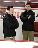 Tim McFeely (BC - Manager), Justin Murphy (BC - Manager) - The Boston College Eagles defeated the visiting Northeastern University Huskies 7-1 on Friday, March 9, 2007, to win their Hockey East quarterfinals matchup in two games at Conte Forum in Chestnut Hill, Massachusetts.
