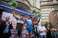 podium:<br /> 1/ Bjorn Leukemans (BEL/Wanty-Groupe Gobert)<br /> 2/ Dimitri Claeys (BEL/Willems Verandas)<br /> 3/ Mark McNally (GBR/Madison-Genesis)<br /> <br /> GP Jef Scherens 2015