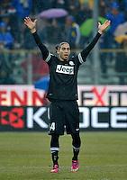 Martin Caceres Juventus.Calcio Parma vs Juventus.Campionato Serie A - Parma 13/1/2013 Stadio Ennio Tardini.Football Calcio 2012/2013.Foto Federico Tardito Insidefoto.