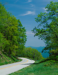 Blue Ridge Parkway, VA: Blue Ridge Parkway winds along the mountain ridges in early spring