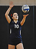 South Side No. 10 Kate Keady serves during a Nassau County varsity girls' volleyball match against host Wantagh High School on Friday, October 23, 2015. Wantagh won 25-15, 25-17, 28-26.<br /> <br /> James Escher