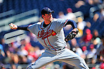 25 September 2010: Atlanta Braves pitcher Derek Lowe in action against the Washington Nationals at Nationals Park in Washington, DC. The Braves shut out the Nationals 5-0 to even their 3-game series at one win apiece. The Braves' victory was the 2500th career win for skipper Bobby Cox. Cox will retire at the end of the 2010 season, crowning a 29-year managerial career. Mandatory Credit: Ed Wolfstein Photo