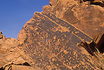 Ancient rock art of Nevada within Valley of Fire State Park.