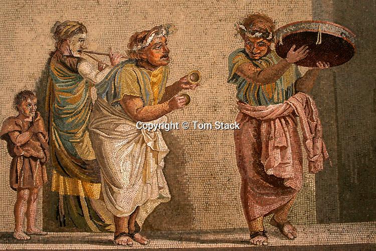 Musicians, mosaic, Villa of Cicerone, Pompeii, Italy