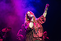 JANIS JOPLIN: FULL TILT opens at Theatre Royal Stratford East, starring Angie Darcy as Janis Joplin, with Andy Barbour, James Grant, Jon Mackenzie and Harry Ward. Picture shows: Angie Darcy (Janis Joplin).